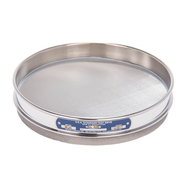 """8"""" Sieve, All Stainless, Half Height, No. 325 with Backing Cloth"""