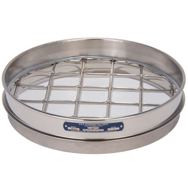 """12"""" Sieve, All Stainless, Half Height, 2"""""""