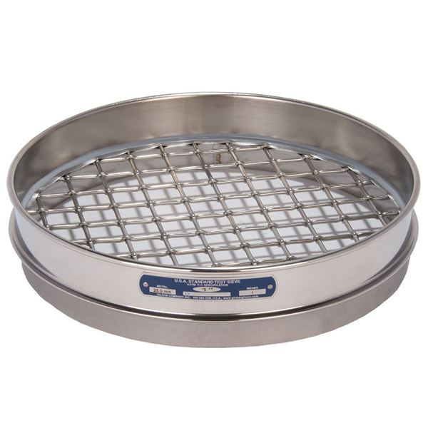 """12"""" Sieve, All Stainless, Half Height, 1"""""""
