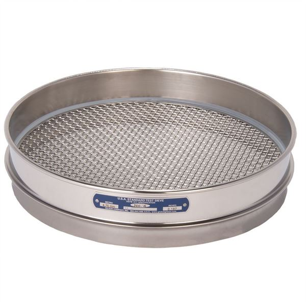 """12"""" Sieve, All Stainless, Half Height, No. 4"""