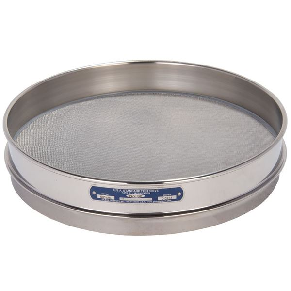 """12"""" Sieve, All Stainless, Half Height, No. 30"""