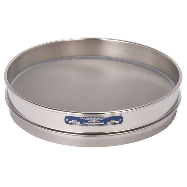 """12"""" Sieve, All Stainless, Half Height, No. 40"""