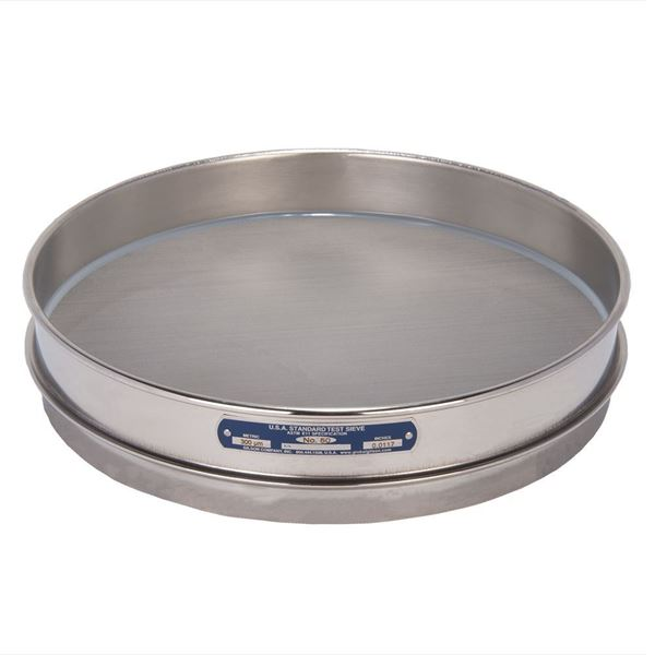 """12"""" Sieve, All Stainless, Half Height, No. 50"""