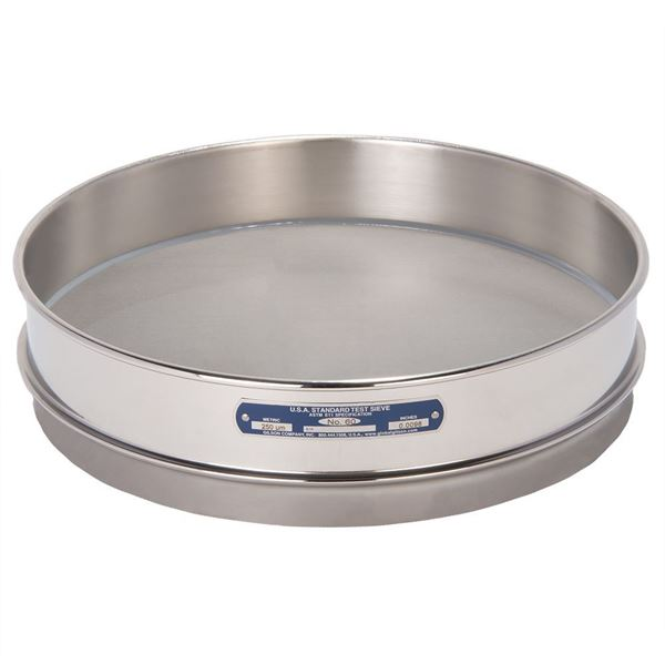 """12"""" Sieve, All Stainless, Intermediate Height, No. 60"""