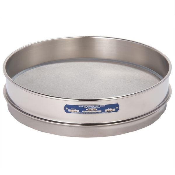 """12"""" Sieve, All Stainless, Intermediate Height, No. 70 with Backing Cloth"""