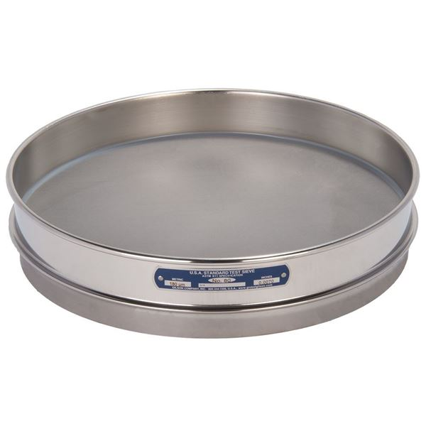 """12"""" Sieve, All Stainless, Half Height, No. 80 with Backing Cloth"""