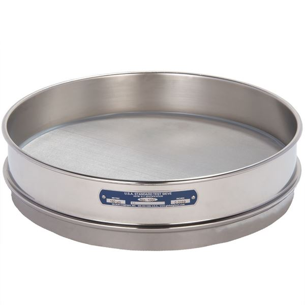 """12"""" Sieve, All Stainless, Intermediate Height, No. 100 with Backing Cloth"""