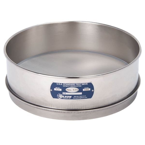 """12"""" Sieve, All Stainless, Full Height, No. 170"""