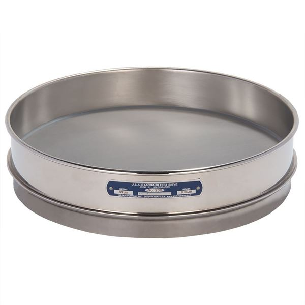 """12"""" Sieve, All Stainless, Intermediate Height, No. 230 with Backing Cloth"""