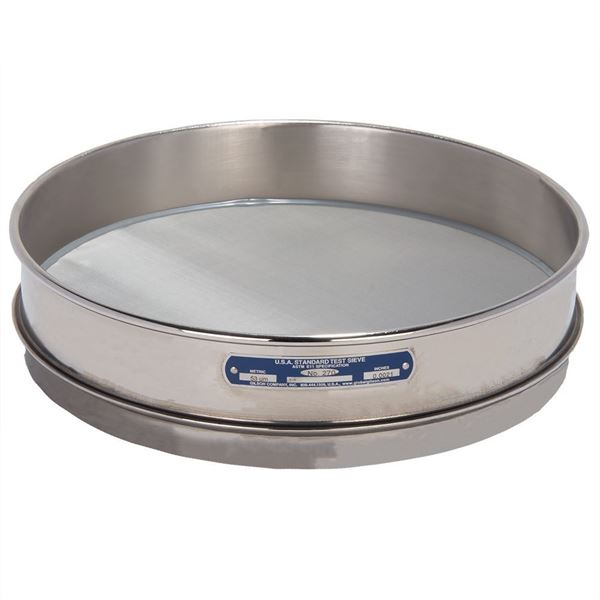 """12"""" Sieve, All Stainless, Intermediate Height, No. 270 with Backing Cloth"""