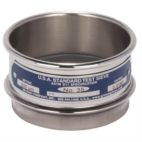 """3"""" Sieve, All Stainless, Full Height, No. 35"""