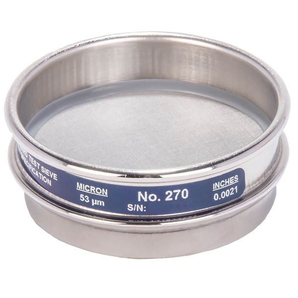 """3"""" Sieve, All Stainless, Half Height, No. 270"""