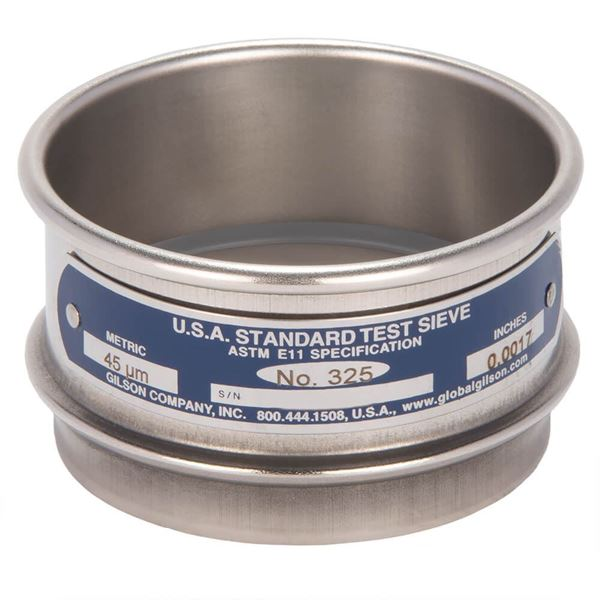 """3"""" Sieve, All Stainless, Full Height, No. 325"""