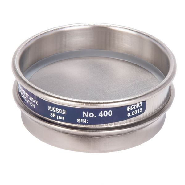 """3"""" Sieve, All Stainless, Half Height, No. 400"""