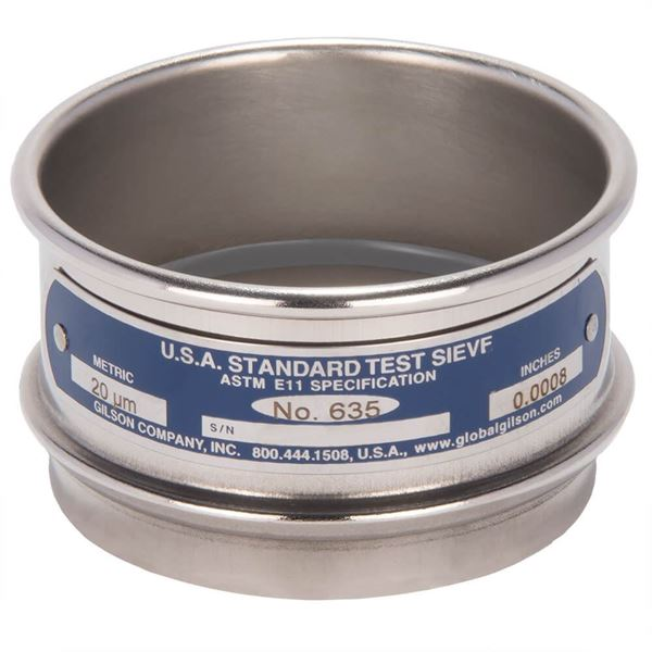 """3"""" Sieve, All Stainless, Full Height, No. 635"""