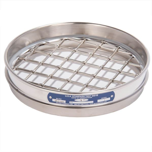 """8"""" Sieve, All Stainless, Half Height, 1"""""""