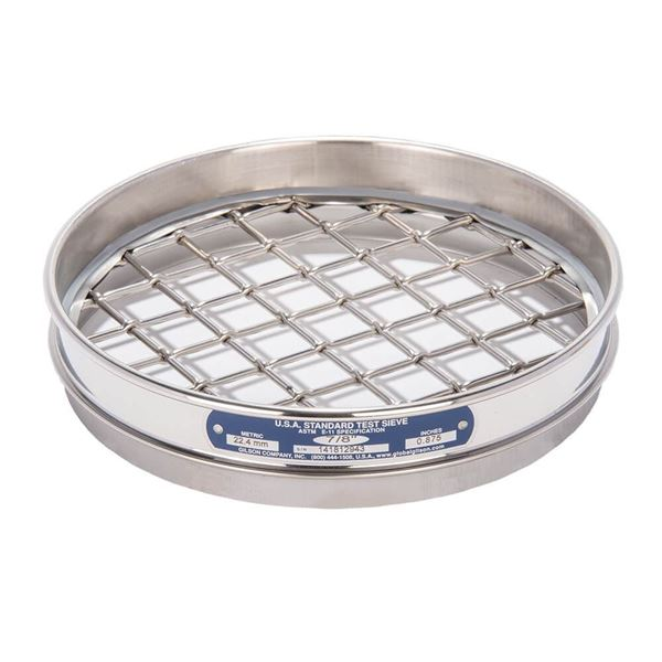 """8"""" Sieve, All Stainless, Half Height, 7/8"""""""