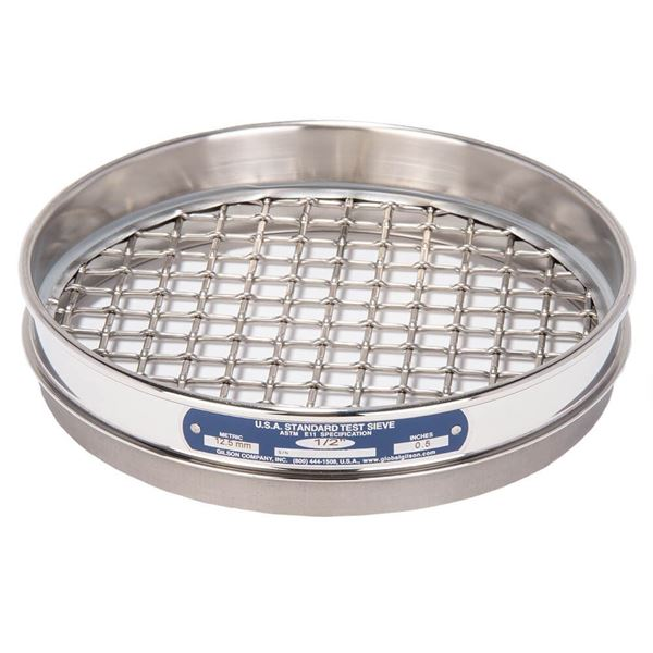 """8"""" Sieve, All Stainless, Half Height, 1/2"""""""