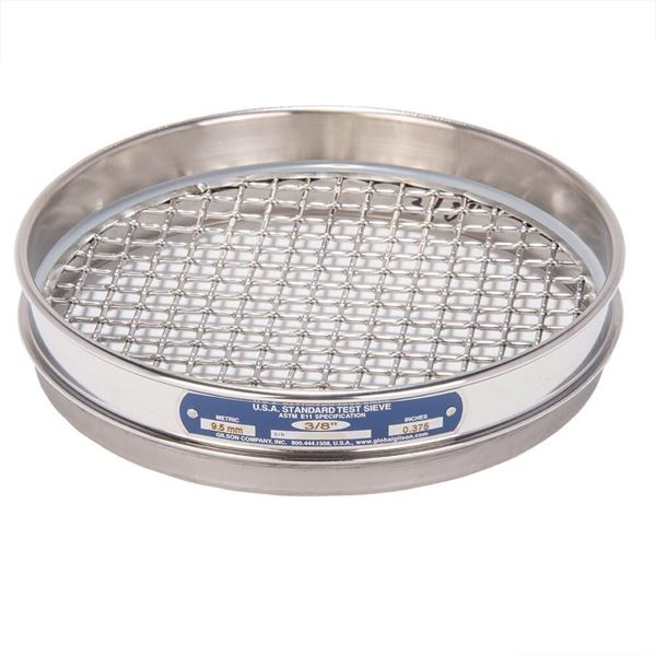 """8"""" Sieve, All Stainless, Half Height, 3/8"""""""