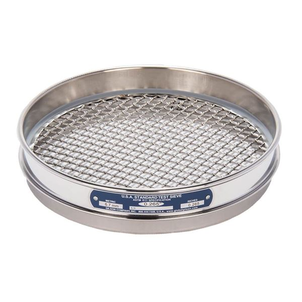 """8"""" Sieve, All Stainless, Half Height, .265"""""""
