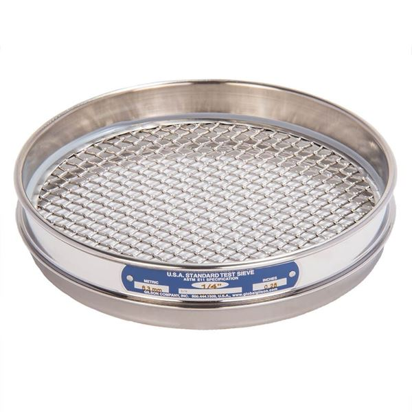 """8"""" Sieve, All Stainless, Half Height, 1/4"""""""