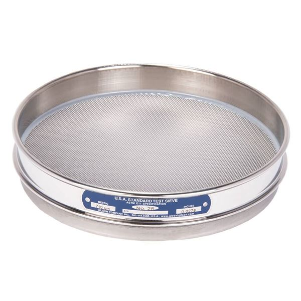"""8"""" Sieve, All Stainless, Half Height, No. 25"""