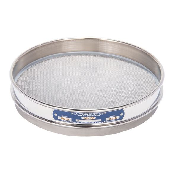 """8"""" Sieve, All Stainless, Half Height, No. 35"""