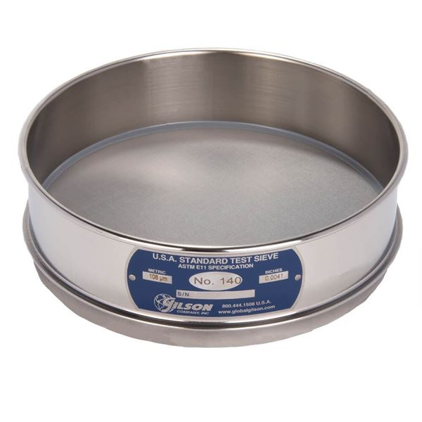 """8"""" Sieve, All Stainless, Full Height, No. 140"""