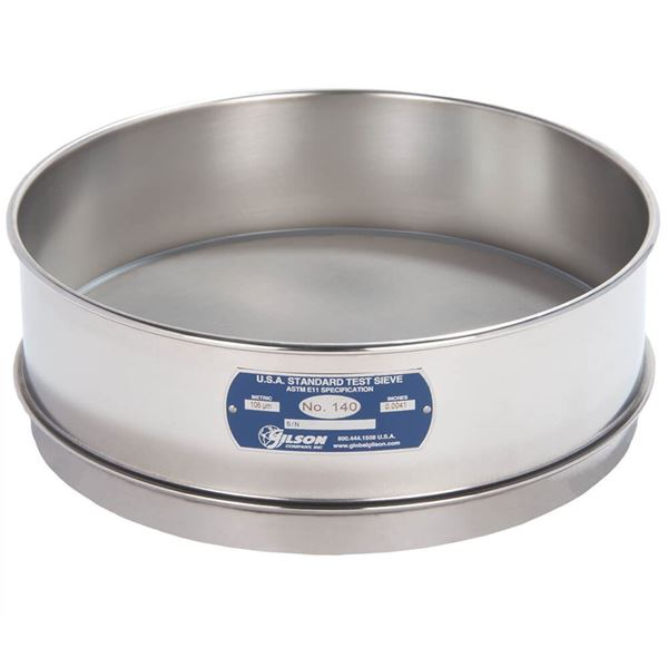 """12"""" Sieve, All Stainless, Full Height, No. 140"""