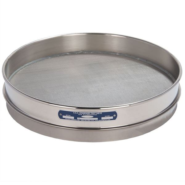 """12"""" Sieve, All Stainless, Half Height, No. 35"""