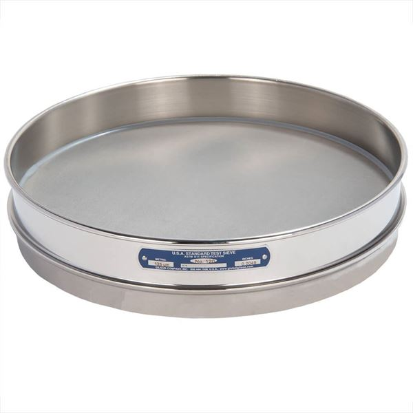 """12"""" Sieve, All Stainless, Half Height, No. 120"""
