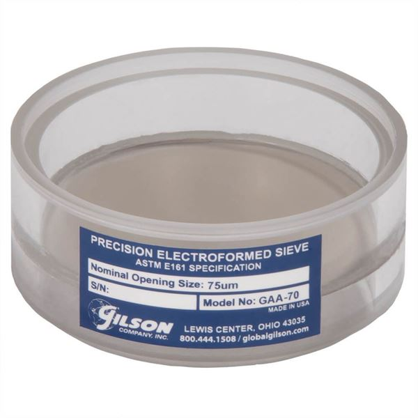 3in Diameter 80µm Acrylic Frame Electroformed Test Sieve