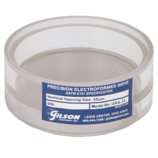3in Diameter 53µm Acrylic Frame Electroformed Test Sieve