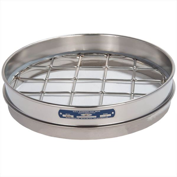 """12"""" Sieve, All Stainless, Half Height, 3"""""""