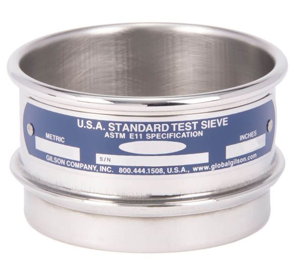 """3"""" Sieve, All Stainless, Half Height, No. 45"""
